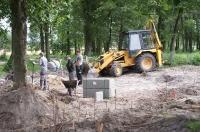Zagospodarowanie centrum wsi Głubczyn - prace budowlane - lipiec 2011